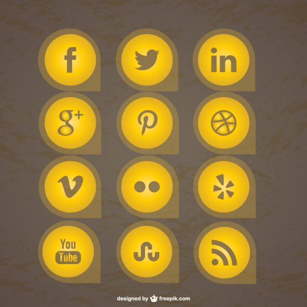 Free Social Media Icons Collection Free Vector