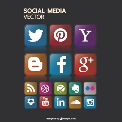 Free Social Media Icons Gaphics Free Vector