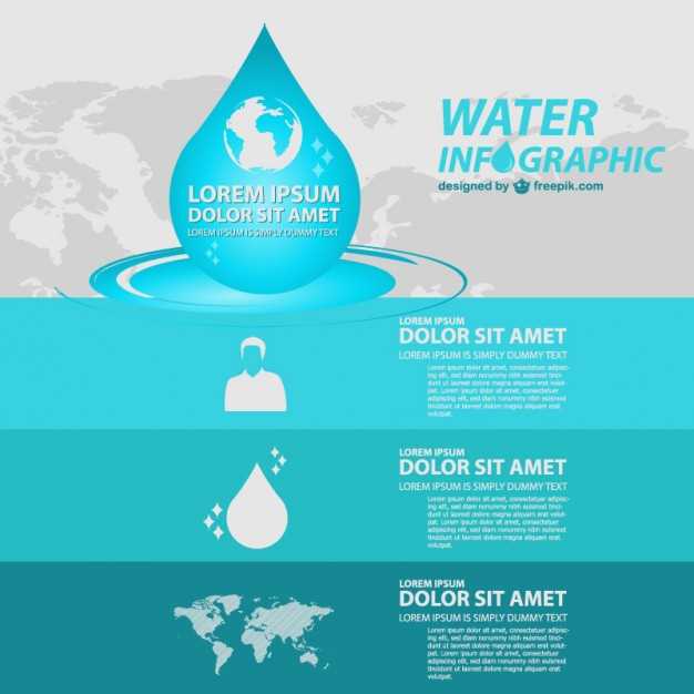 Free Water Global Infographic Template Free Vector