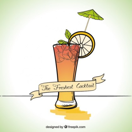 Fresh Cocktail Free Vector