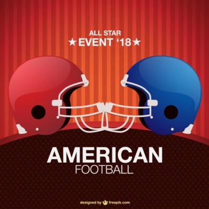 Game Poster American Football Design Free Vector