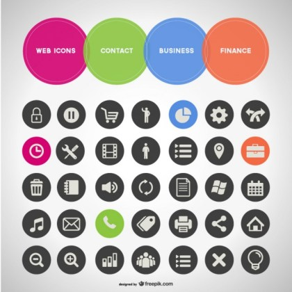 General Business of Icons Free Vector