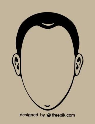 Gentleman Head Contour Icon Free Vector