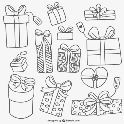 Gift Box Collection Free Vector