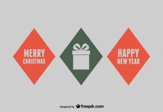 Gift Box Merry Christmas Free Vector