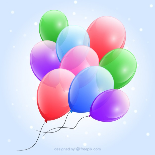 Glossy Balloons Background Free Vector
