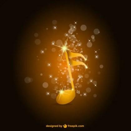 Glossy Premium Music Background Free Vector