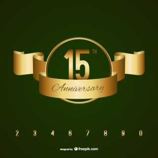 Golden Anniversary Badge Free Vector