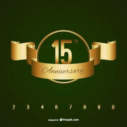 Golden Anniversary Badge Free Vector