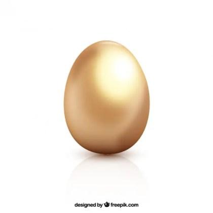 Golden Dull Easter Egg Free Vector