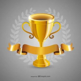 Golden Trophy Free Vector