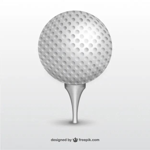 golf ball free vector 123freevectors