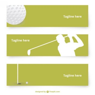 Golf Banners Free Vector