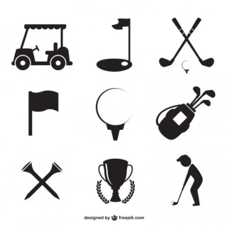 Golf Icons Free Vector
