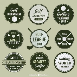 Golf League Labels Free Vector