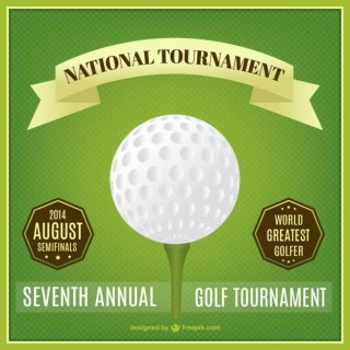 Golf National Tournament Poster Free Vector