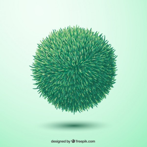 Green Grass Sphere Free Vector