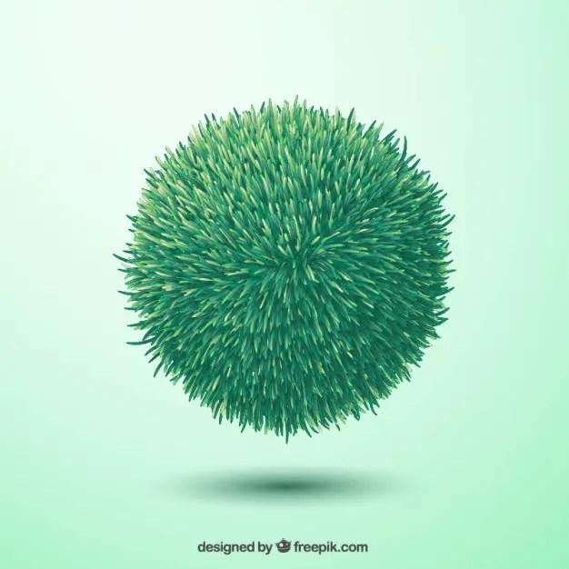 Green Grass Sphere Free Vector