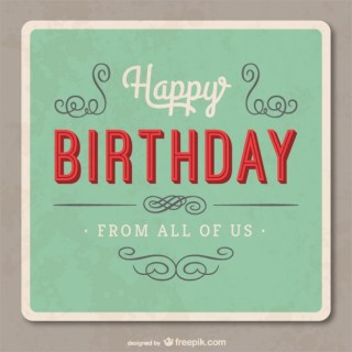 Grunge Birthday Card Free Vector