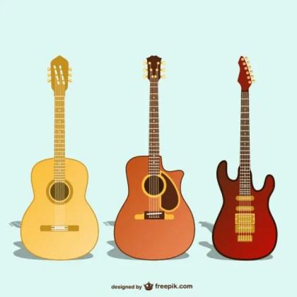 Guitar Art Free Vector