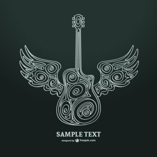Guitar Art Illustration Free Vector