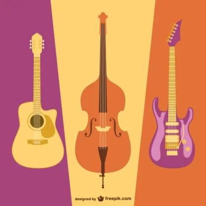 Guitar Flat Image Free Vector