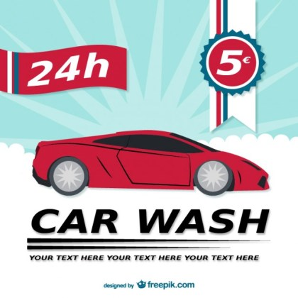 H Car Wash Template Free Vector