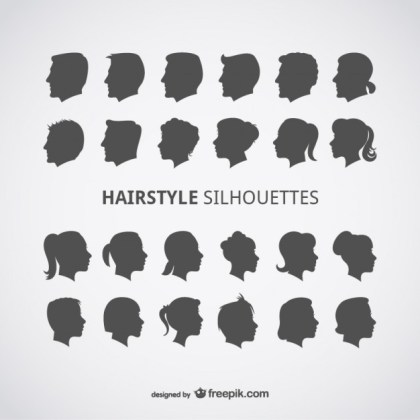 Hairstyles Profiles Free Vector