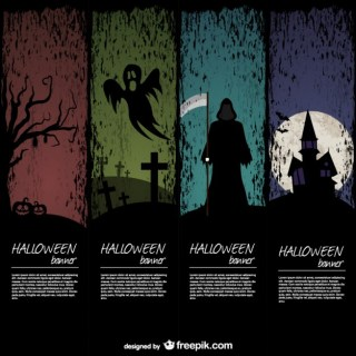 Halloween Banner Templates Pack Free Vector