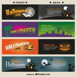 Halloween Card Templates Free Vector