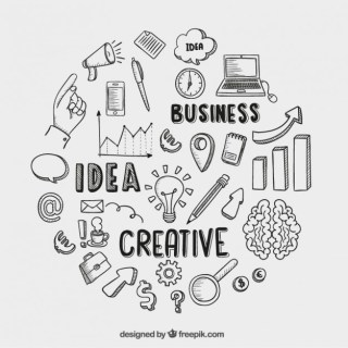 Hand Drawn Business Icons Free Vector
