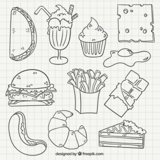 Hand Drawn Fast Food Free Vector