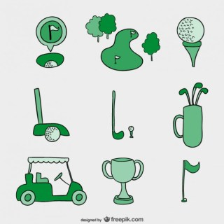 Hand Drawn Golf Free Vector