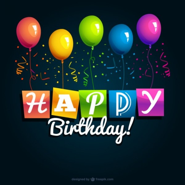 Happy Birthday Background Free Vector