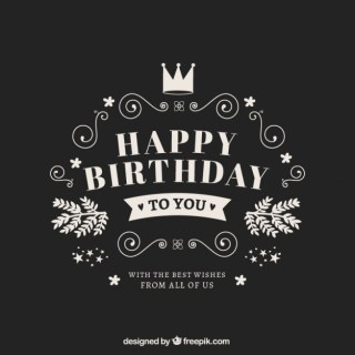 Happy Birthday Card in Retro Style Free Vector