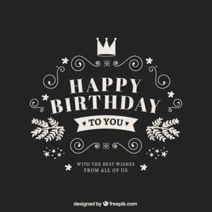 Happy Birthday Card in Retro Style Free Vector