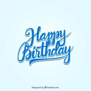 Happy Birthday Lettering Free Vector