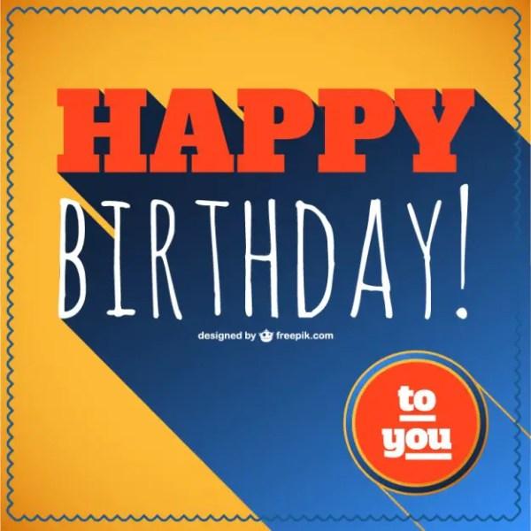 Happy Birthday Retro Lettering Free Vector