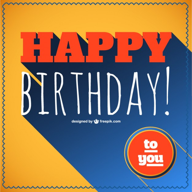 Happy Birthday Retro Lettering Free Vector