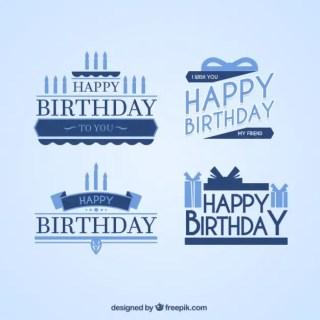 Happy Birthday Types Free Vector