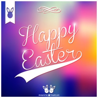 Happy Easter Card Design Free Vector