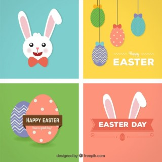 Happy Easter Cards Free Vector