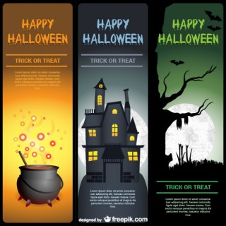 Happy Halloween Banner Templates Pack Free Vector