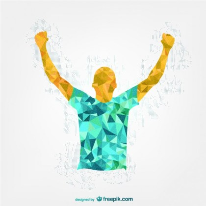 Happy Soccer Player Template Free Vector
