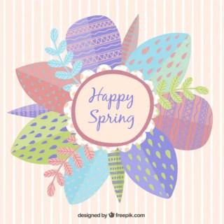 Happy Spring Card Free Vector