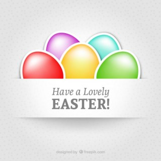 Have a Lovely Easter Free Vector