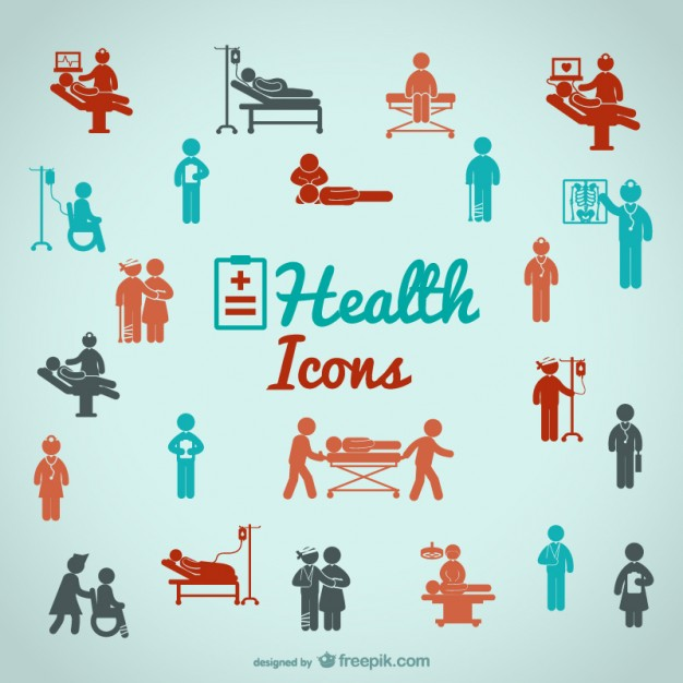 Health People Icons Free Vector