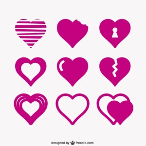 Hearts Icon Pack Free Vector