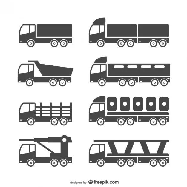 Heavy Vehicles Free Vector