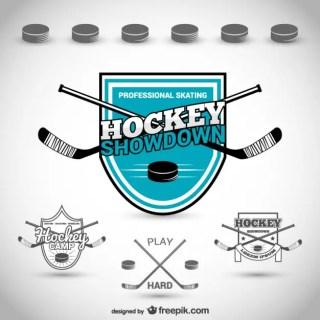 Hockey Club Badge Free Vector
